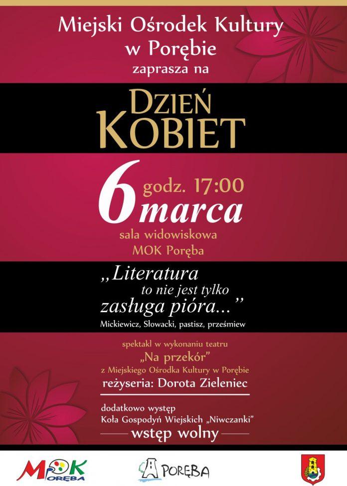"""Dzień Kobiet – Plakat Spektakl """"Na przekór"""" – 6 marca godz 17:00"""
